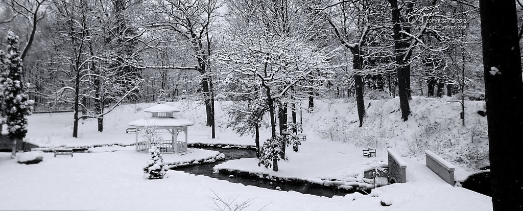 Snowfall and Swift Water