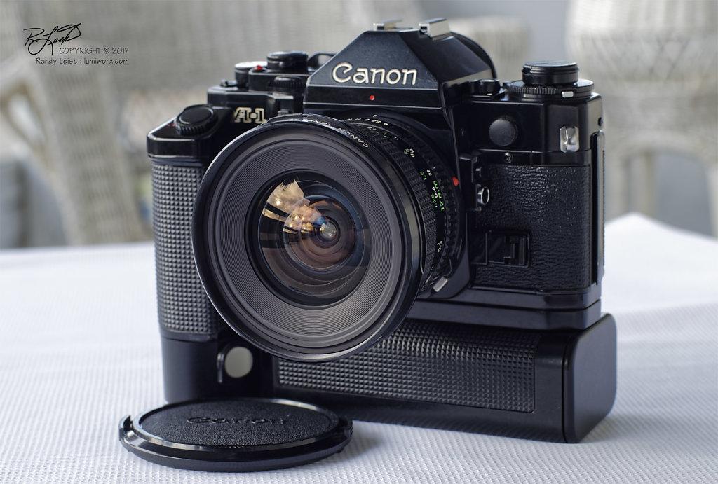 Canon A-1 w/ Canon FDn 17mm f/4