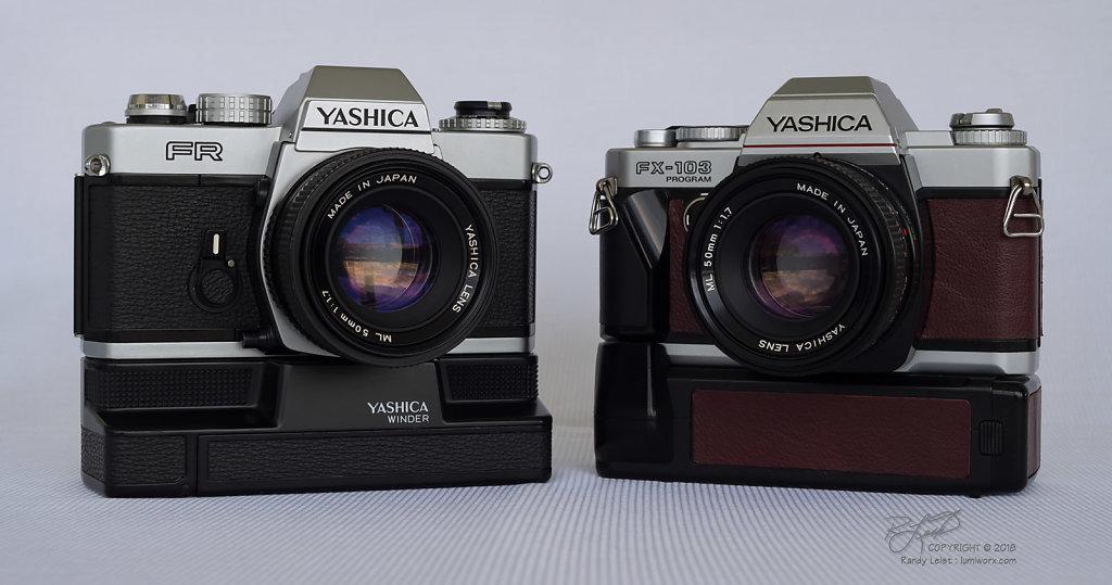Yashica FR and Yashica FX-103 Program cameras