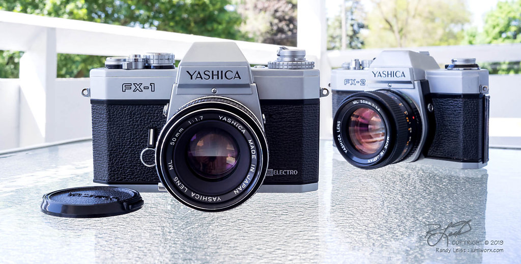 Yashica FX-1 and Yashica FX-2 w/ML 50mm lenses