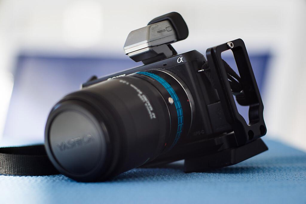 Standard framing - focus on body logo - Rollei Heidosmat 150mm f/3.5 Projection lens